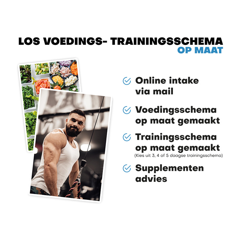 los trainings- en voedingsschema
